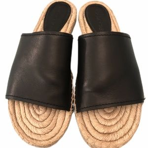 Coach Claudia Black leather sandal